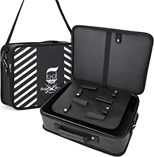 جعبه ابزار آرایشگر با بند شانه ، Segbeauty بزرگ 10.8 14. 14.6 4. 4.3 در کیف مسافرتی مدل سازی مو ، کیت آرایش موی سالن حرفه ای سازمان دهنده ذخیره سازی سشوار ، کلیپس ، قیچی