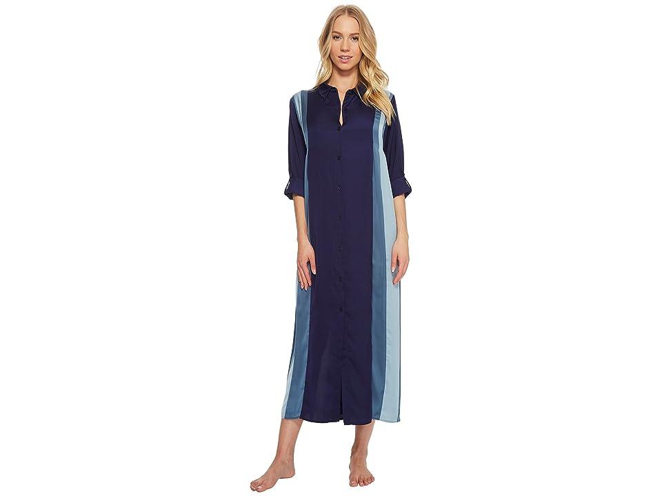 Donna Karan Satin Sleepshirt (Navy) Women
