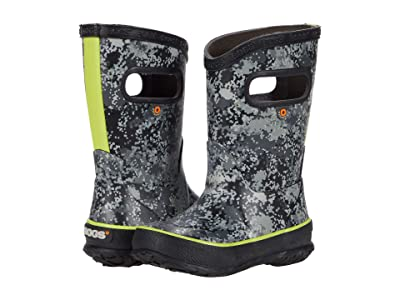 Bogs Kids Rain Boots Micro Camo (Toddler/Little Kid/Big Kid) (Black Multi) Boy