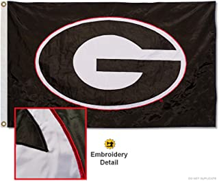 Georgia Bulldogs Embroidered and Stitched Nylon Flag