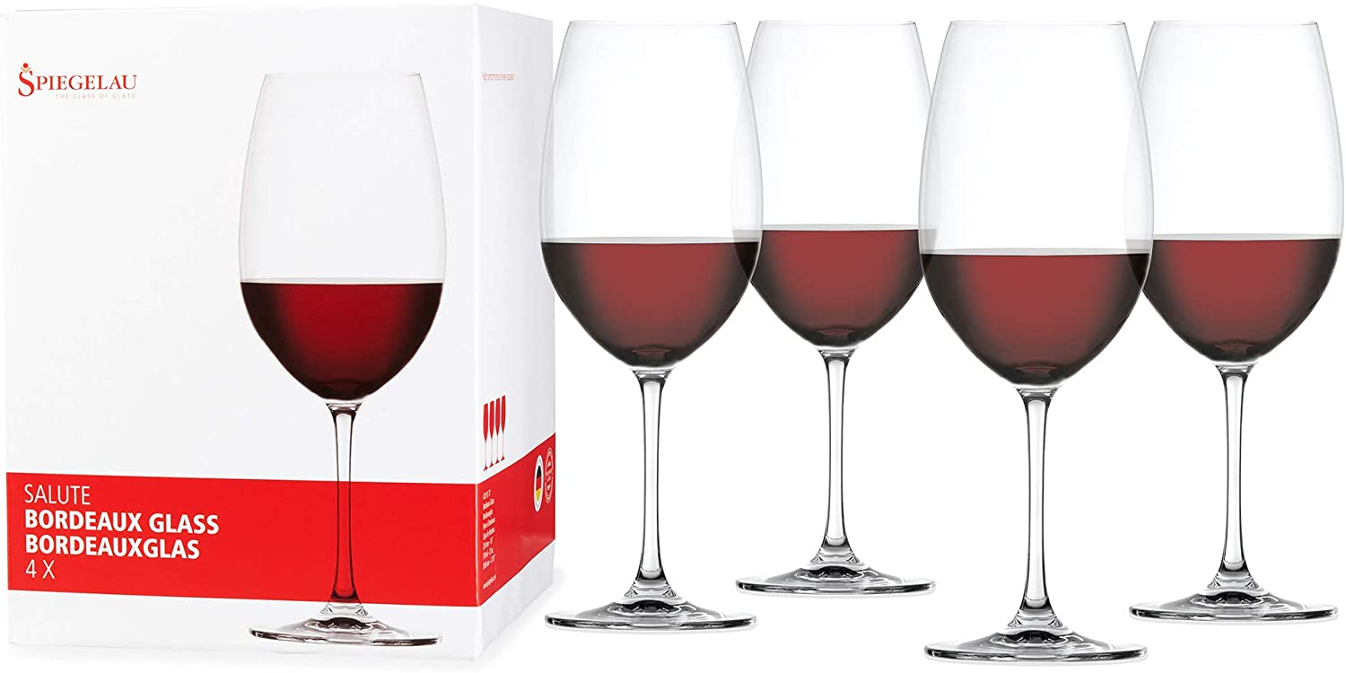 Spiegelau Genuine Free Shipping Salute OFFicial shop Bordeaux Wine Glasses Crystal of Clear - Set