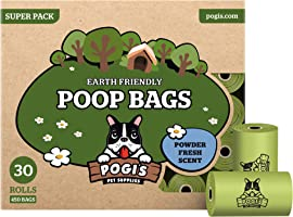 Pogi's Poop Bags - 30 Rolls (450 Dog Poo Bags) - Scented, Leak-Proof, Biodegradable Poo Bags for Dogs