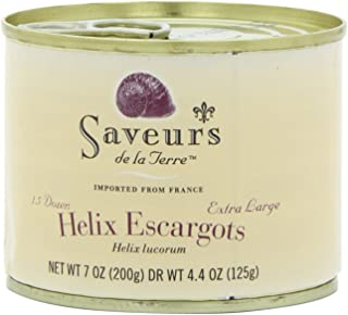 Saveurs Helix Escargot, 1.5 Dozen, Net WT 7 oz(Pack of 3)