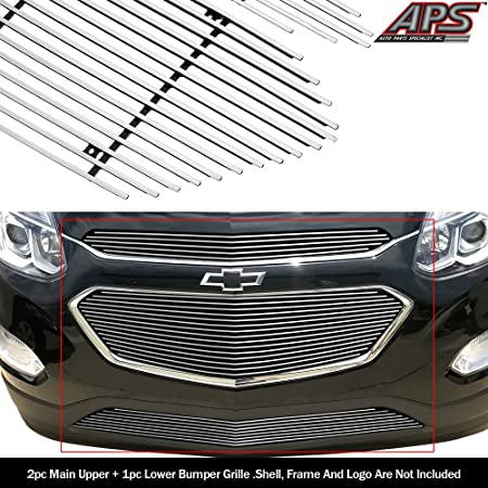 APS Compatible with 2010-2015 Chevy Equinox Billet Bumper Grille Grill Insert S18-A93766C