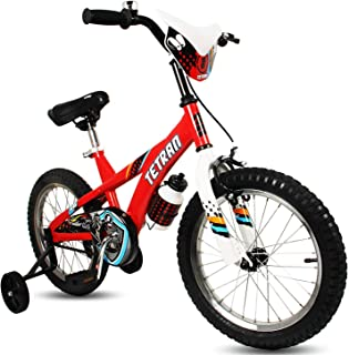 HAPTOO Freestyle Kid's Bike for Boys and Girls, 16 inch with Training Wheels & Kickstand, in Multiple Colors
