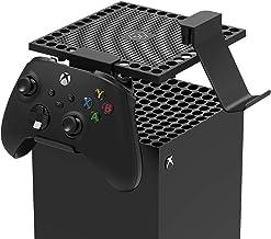 Suporte de gancho para controle de suporte para Xbox Series X com suporte de filtro de proteção contra poeira para console...