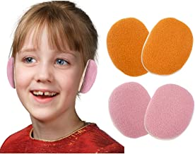 2 Pairs Child Bandless Ear Warmers,Kid Earmuffs with Soft Fleece, Ear Covers Winter Outdoors for Boy Girl