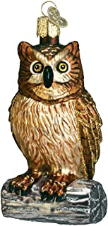Old World Christmas Ornaments: Owls Glass Blown Ornaments for Christmas Tree