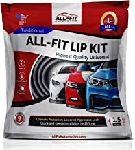 All-Fit Automotive 1.5 Inch Universal Bumper Lip Splitter Kit - Chin Spoiler Protector for Front or Rear - Lips Protect and Cover Lower Bumper for a Dropped Look - Universal Fit