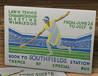 1928 Vintage Wimbledon Tennis Poster - Canvas Gallery Wrap - 10 x 16