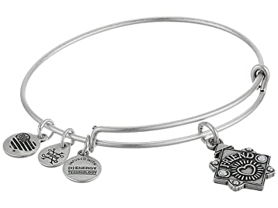 Alex and Ani Because I Love You Friend III Bangle (Rafaelian Silver) Bracelet