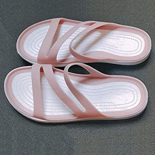 N / A Flip Flops Womens,Summer Slippers, Ladies Flat Beach Shoes, Non-Slip Bathroom Slippers