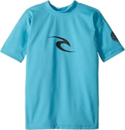 Rip Curl Kids - Corpo Short Sleeve UV Tee (Big Kids)