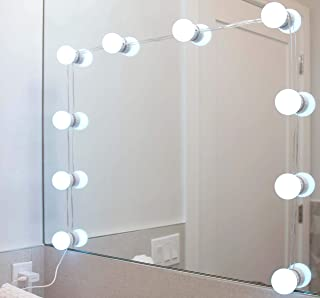 Vanity Mirror LED Light - Dimmable, 4 Lighting Colors, 5 Brightness Levels, Stick-On Bulbs, USB Connection, Retractable Wi...