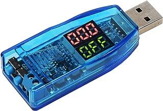 USB Buck Boost, DROK DC-DC Step Up Down Power Supply Module, 3.5V-12V 5V to 1.0V-24V 3.3V 12V 24 Volt 3W Adjustable Voltage Regulator with Dual LED Digital Display Button Micro USB Adapter