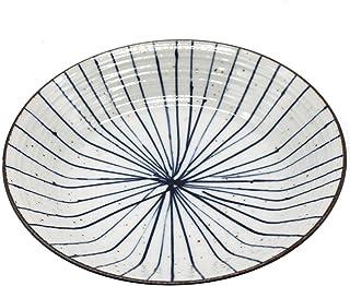 美濃焼 大皿 21.0cm 和皿 皿 十草皿 スレート おしゃれ 電子レンジ対応 《紡 TSUMUGU》ヌクラシリーズ 126-0802