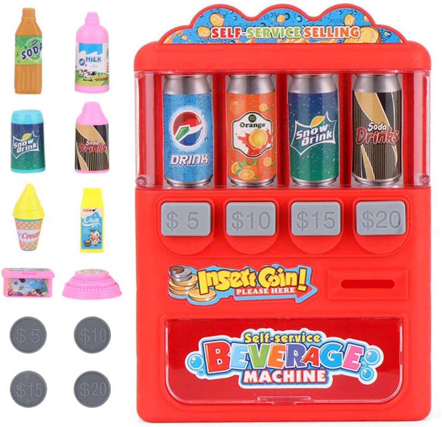 Máquina Expendedora De Juguetes, Máquina Expendedora De Bebidas Y Monedas Para Niños, Juguetes Educativos Electrónicos De Aprendizaje Interactivo Para Niños, Juego De Simulación Para Cumpleaños De