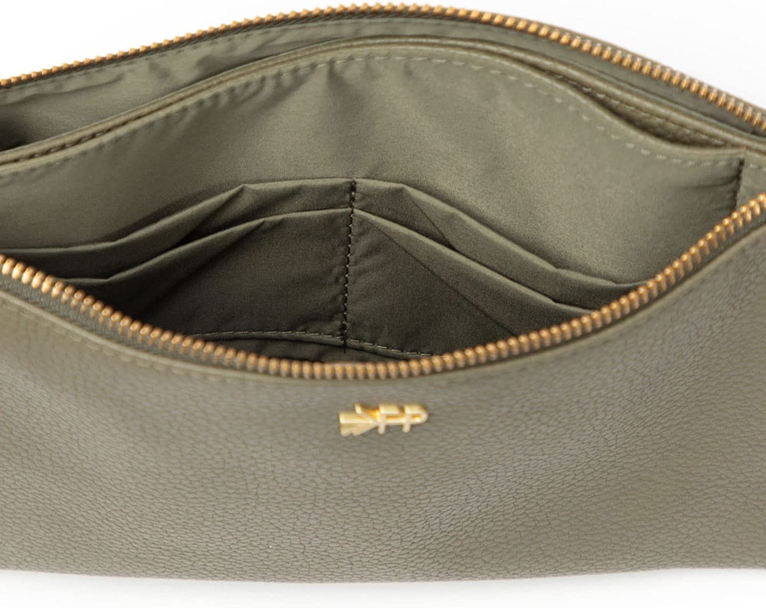 Freshly Picked - Classic Zip Pouch Diaper Bag Backpack - Large Internal Storage 10 Pockets Wipeable Vegan Leather - Sage Green