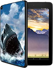 HICKORY Silicone Case for Amazon Kindle Fire 8 Tablet Light Weight [Anti Slip] Soft Shock Proof Protective Black Cover - Shark09