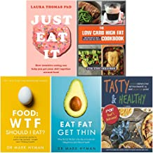 Just eat it, low carb high fat cookbook, food wtf should i eat, eat fat get thin, tasty and healthy 5 books collection set