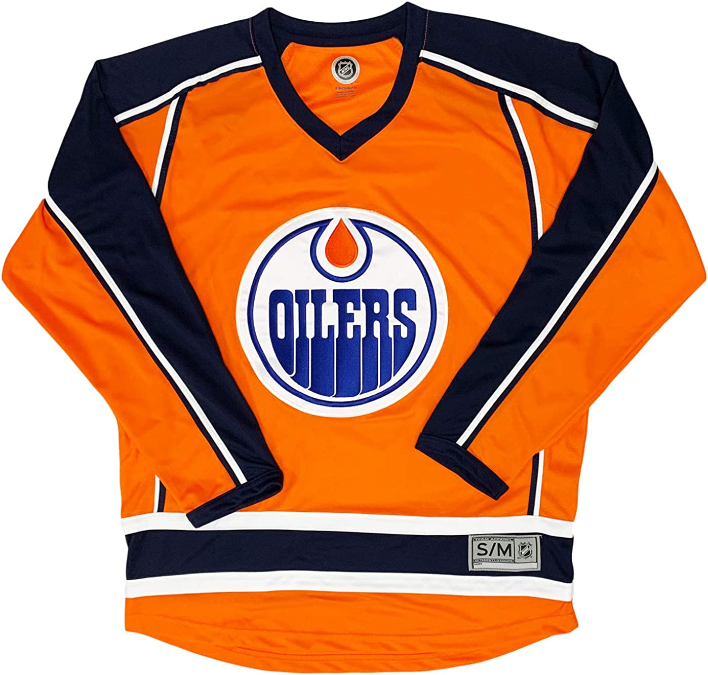 Edmonton Oilers Orange New Popular overseas arrival Blank Men's Team Stripe Apparel Jersey 2