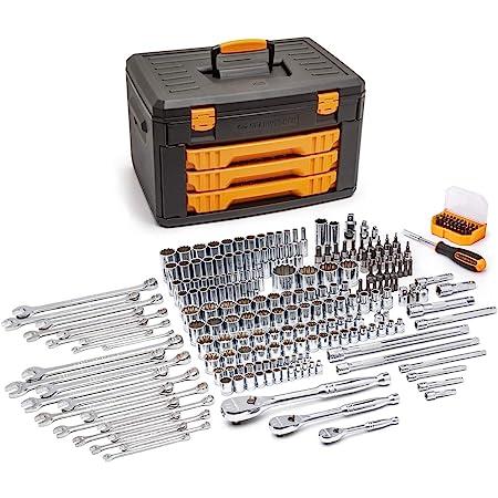 GEARWRENCH 243 Pc. 12 Pt. Mechanics Tool Set in 3 Drawer Storage Box - 80972
