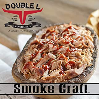 Pulled Pork in Barbecue Sauce by Double L Ranch Meats   Hickory Smoked and Shredded   Ready to Serve   10 Lbs (2 Pack)