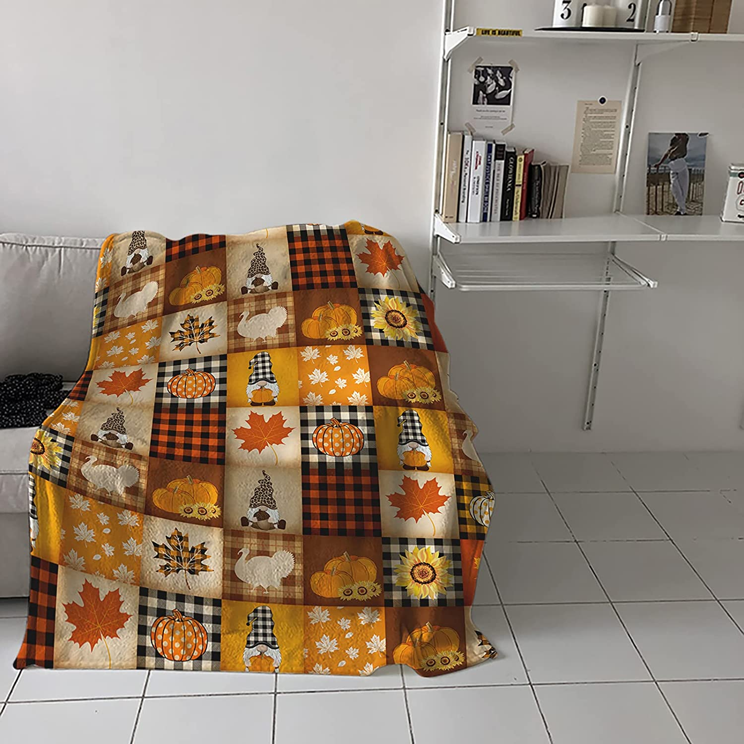 Soft Fluffy Portland Mall Flannel Credence Fleece Throw Blanket for Tha Couch Sofa Bed