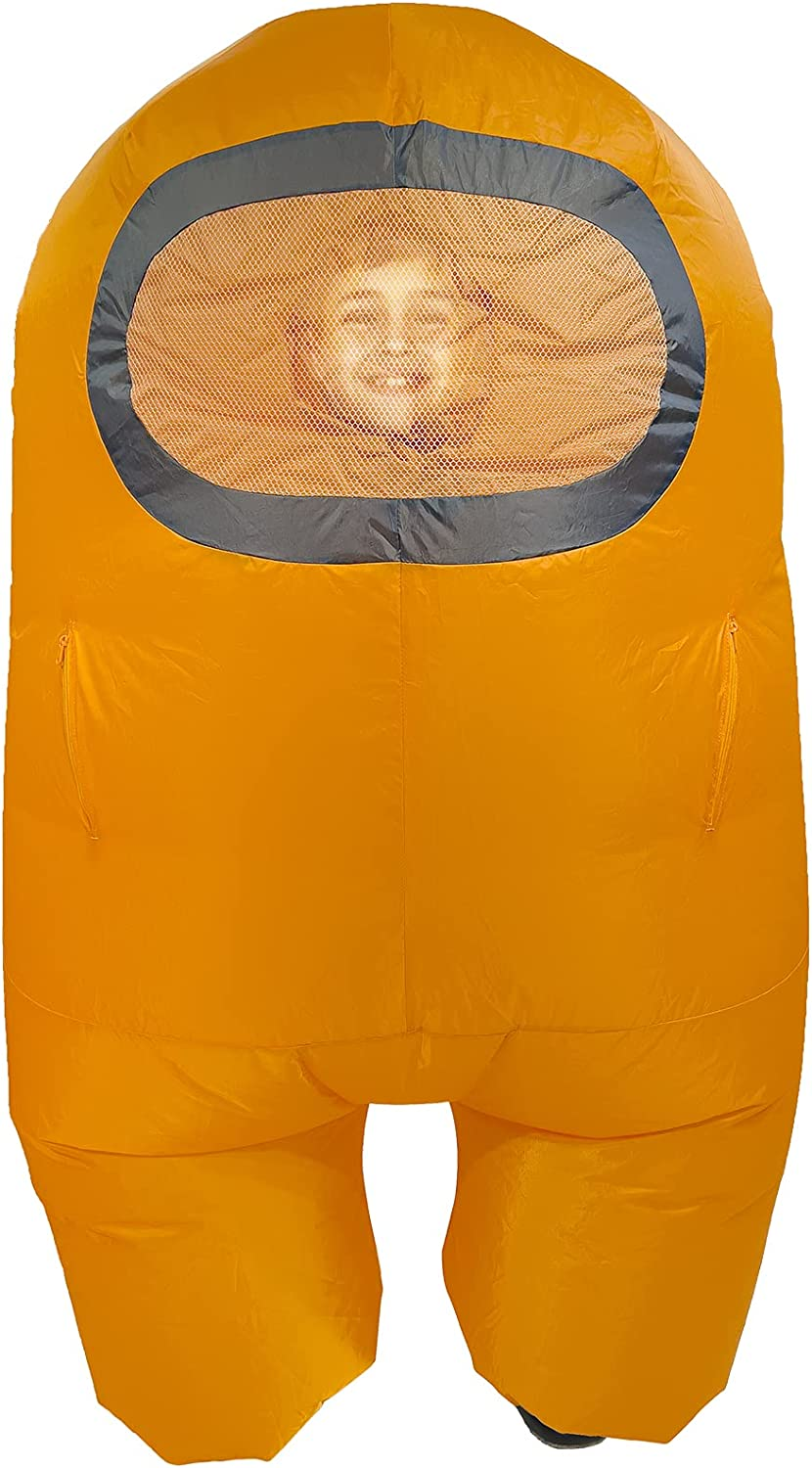 Toikido Among Us Official Yume Inflatable Cosplay Costume Crewmate - Orange