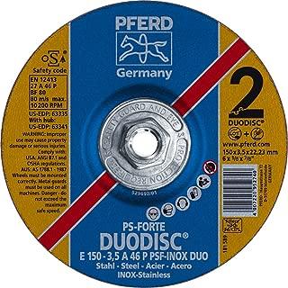 PFERD 63341 Duodisc Combination Cutting/Grinding Wheel, Type 27, Aluminum Oxide A, 6