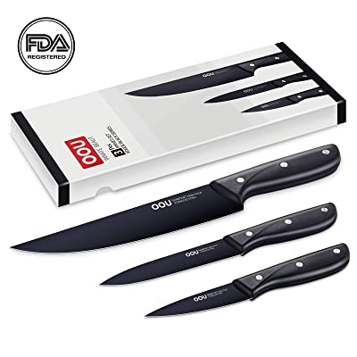 OOU Kitchen Knife Set Chef Knives, 3 Pieces Gif...