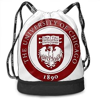 University Chicago School Drawstring Backpack Bag For Men Women Kids - Great For Yoga, Travel, School Sackpack