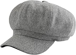 4b68c287fca8a BomoWell Womens Winter Wool Blend Visor Berets Newsboy Cap 8 Panel Cabbie  Paperboy Hat