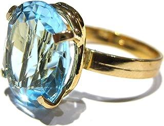 anillo Topacio Oro 750%