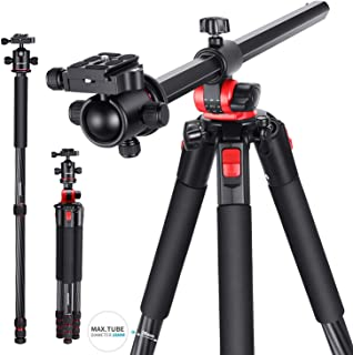 Neewer Camera Tripod Monopod Carbon Fiber with Rotatable Center Column - Portable Lightweight, 72.4 inches/184 Centimeters...