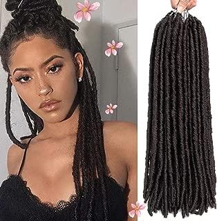 6 Pac 18 inches Faux Locs Crochet Hair Dreadlocks Hair Extensions Soft Straight Goddess Locs Synthetic Dreadlocks Braiding Hair (18