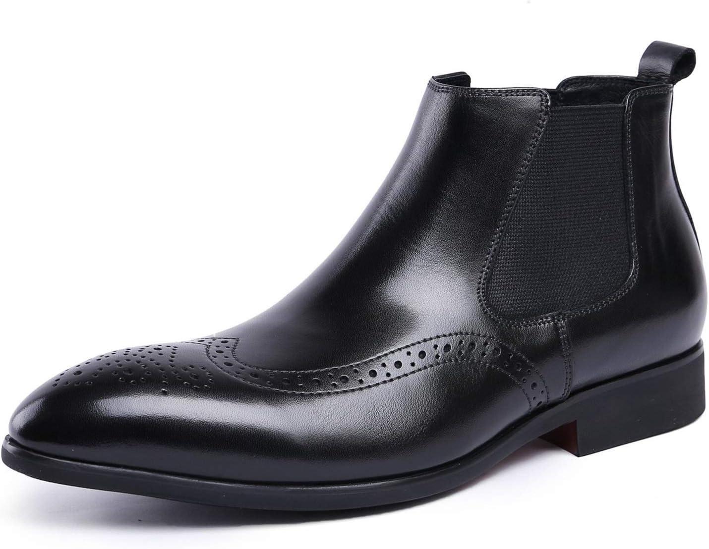 Rui Landed Premium Genuine 2021 model Leather Work Men for Chelsea Boo Boot Very popular!