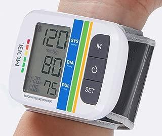 MOBI Health Automatic Wrist Blood Pressure Cuff Monitor - Detects Irregular Heartbeat – Monitors Pulse Rate – Fast Accurate Readings (Wrist Blood Pressure Monitor)