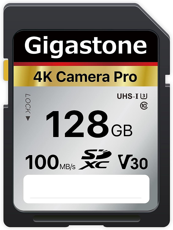 Gigastone 128GB SD Card V30 SDXC Memory Card High Speed 4K Ultra HD UHD Video Compatible with Canon Nikon Sony Pentax Kodak Olympus Panasonic Digital Camera