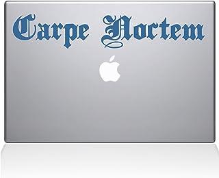 """The Decal Guru 1033-MAC-15P-LB Carpe Noctem Seize the Night Vinyl Sticker, 15"""" Macbook Pro (2015 & older), Blue"""