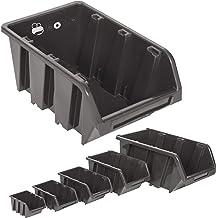 10pieza Visión Cajas de almacenamiento tamaño 2–Negro (15,5x 10x 7cm)