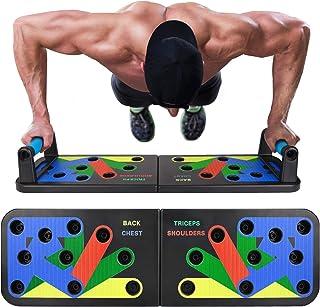 EKOOS 12 en 1 Tablero Push-ups Board Sistema portátil de músculos multiparte para el hogar Equipo de Entrenamiento físico Ejercicio físico extraíble Equipo de Ejercicios multifunción