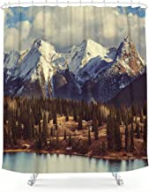 Adventure Shower Curtain Nature Walk Mountains Print for Bathroom