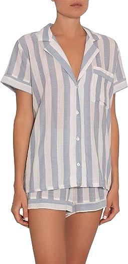 Umbrella Stripes Woven Short PJ