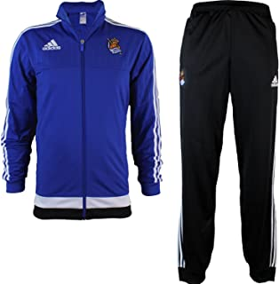 adidas Heren RS PES Real Sociedad Trainingspak-Blauw AZUFUE/Wit, X-Small