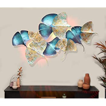 Buy Karigaari India Wrought Iron Wall Hanging Beautiful Led Rays Fish Showpiece For Home Decor And Living Room Online At Low Prices In India Amazon In