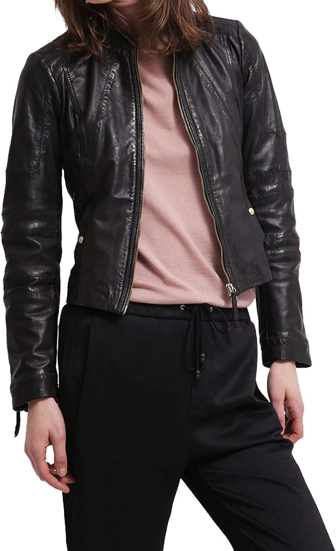 Women's Stylish Lambskin Genuine Leather Jacket WJ105