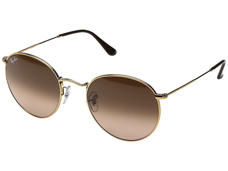 Ray-Ban 0RB3447 Round Metal Classic 53mm (Light Bronze/Pink Gradient) Fashion Sunglasses