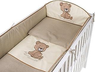 Bébé Literie Fit Crib Set 70x80cm Taie d/'oreiller Housse de couette 2PC Safari Beige