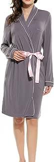 Ekouaer Women's Cotton Bathrobes Soft Kimono Robe Knee Length Spa Robe XS-XL